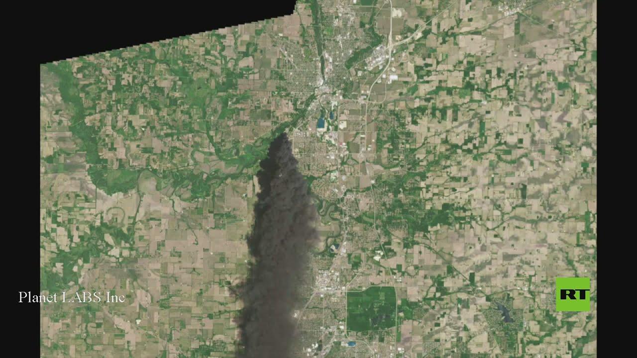 صور من الأقمار الصناعية تظهر مدى قوة الحريق في ولاية إلينوي  - نشر قبل 48 دقيقة