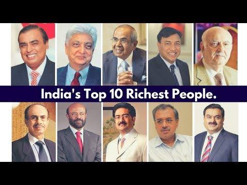 Top 10 Richest People in India - Mukesh Ambani | Azim Premji | Hinduja Brothers