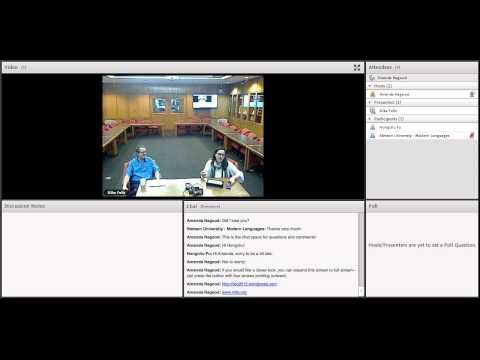 Shared language courses via video conferencing