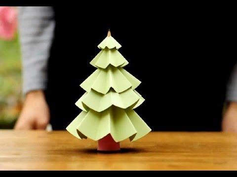 Cách làm cây thông Noel bằng giấy dễ hơn ăn kẹo