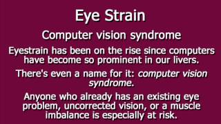 Eye Strain - Causes, Symptoms, Relief
