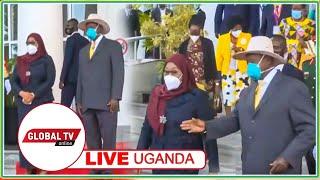 🔴#LIVE: ZIARA ya RAIS SAMIA NCHINI UGANDA, RAIS MUSEVENI AMKARIBISHA Kwa KUMPIGIA MIZINGA 21