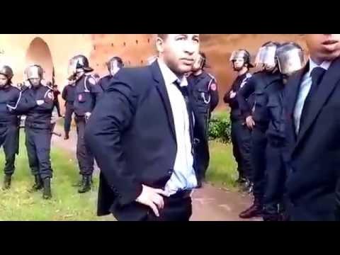 Rabat:gréve de  police marocaine contre l'expulsion arbitraire d' el hamouchi.vive le roi mohamed 6