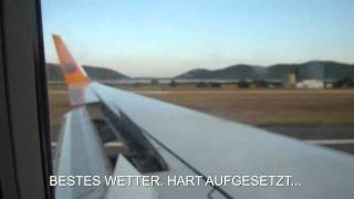 Landung im Vergleich Hapag-Lloyd German Wings Landing Compilation
