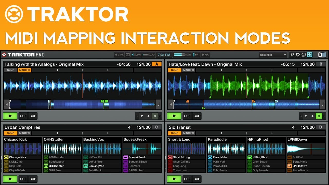 Traktor Pro 2 Advanced MIDI Mapping Tutorial: Interaction Modes