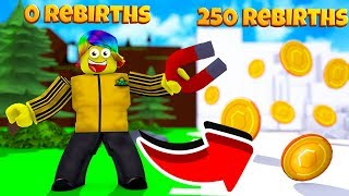 This Will Put You Into the 250 REBIRTHS ZONE FOR FREE.. (Roblox Magnet Simulator)