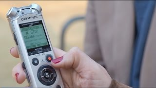 OLYMPUS LS-P1 - Voice Recording Tutorial with Beth Caro
