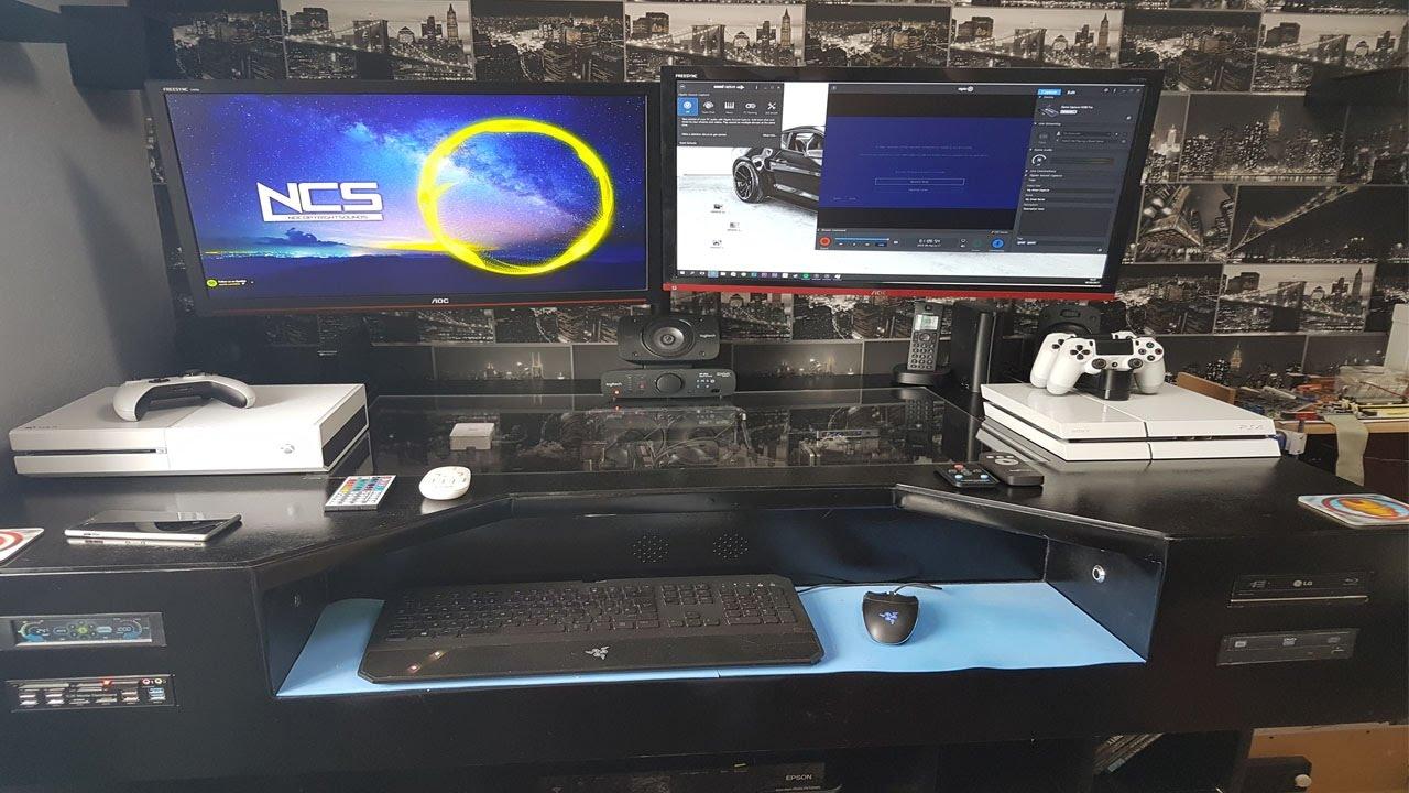 Ultimate Gaming Desk ultimate gaming desk pc build totally custom - youtube