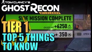 Top 5 Useful things You Need to Know about GHOST RECON WILDLANDS Tier 1