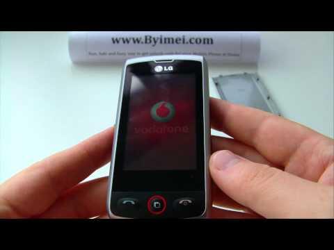 LG GW520 Etna 3G Unlock & input / enter code.AVI