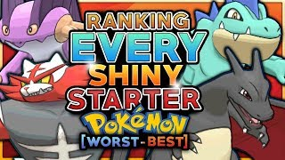 Ranking Every Shiny Starter Pokemon From Worst To Best