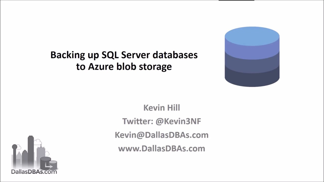 Backup SQL Server to Azure Blob Storage