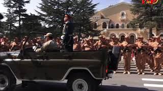 Торжественный парад, посвященный 27 годовщине образования Республики Южная Осетия.
