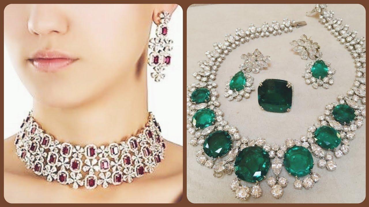 Most Stylish Party Wear Bridal Wedding Necklace Sets Diamonds Necklace Sets Youtube