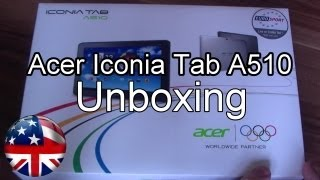 Acer Iconia Tab A510 Unboxing and Hands On