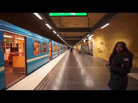 Sweden, Stockholm, Akalla subway station, 6X escalator, 3X elevator