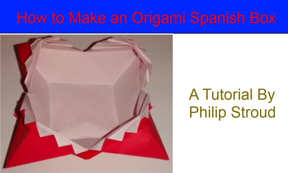 how to make an origami zig zag box or spanish box youtube