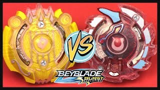 BATTLE: ORPHEUS O2 vs UNICREST U2!! Hasbro Exclusive Beyblade Burst