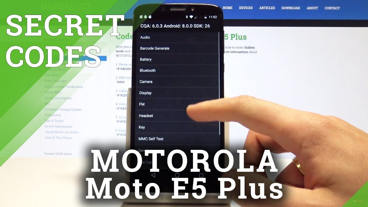CODES MOTOROLA Moto E5 Plus - Hidden Mode / Secret Menu / System Info