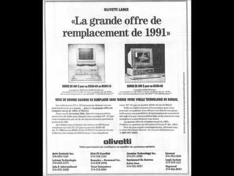 Olivetti computers found in old French Canadian newspapers!
