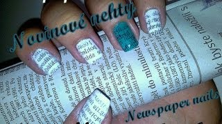 Newspaper Nail Art Tutorial / Novinové nehty