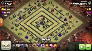 CW 3 Star🤩 GoWiPe auf Troll Base Townhall 9. Clash of Clans⚔️