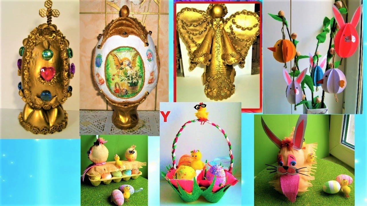 6 идей пасхальных поделок своими руками. Easter crafts/