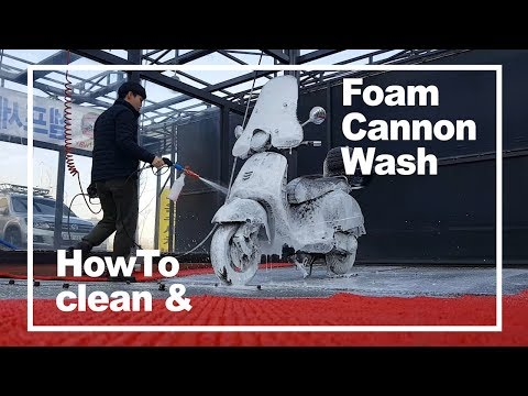 How To Wash Vespa gts With Foam Cannon