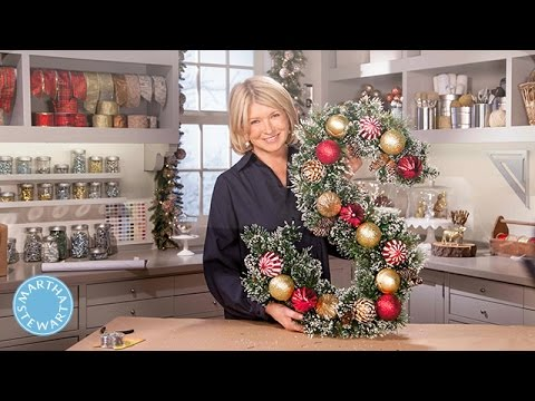 Make a Festive Monogram Wreath - Martha Stewart