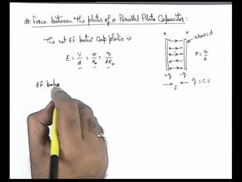 16. Physics | Capacitance | Force Between The Plates of a Parallel Plate Capacitor |Ashish Arora(GA)