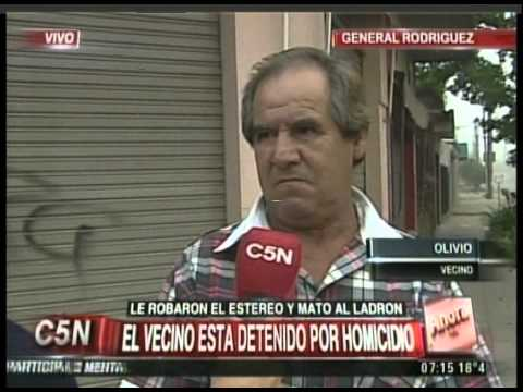 C5N - POLICIALES: LE ROBARON EL ESTEREO Y MATO AL LADRON (PARTE 1)