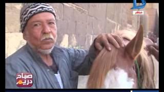 صباح دريم|عم فاروق أقدم العاملين بمهنة صناعة حدوة الحصان