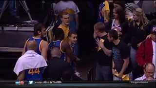 Golden State Warriors G Stephen Curry Confronts a Denver Nuggets Fan