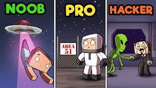Minecraft - AREA 51 SECRET BASE! (NOOB vs PRO vs HACKER)