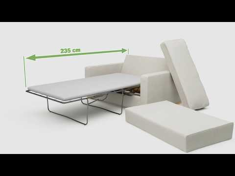Xan 1 Seat Single Sofa Bed