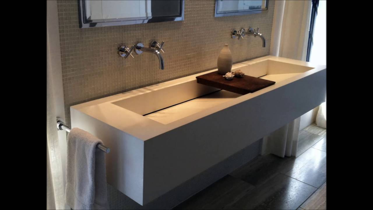 Twin bathroom sinks - Natural Bathroom With Twin Sinks In Stone