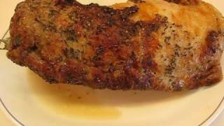 Betty's Rotisserie Pork Loin with Rosemary--Made with Rick