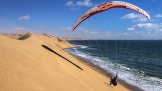 Red Bull: Paragliding Over Sand Dunes in Namibia