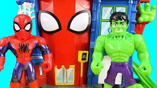Imaginext Joker Controls RC Mega Mighties Spider-man | Playskool Heroes Rescue Bot Robot Superhero