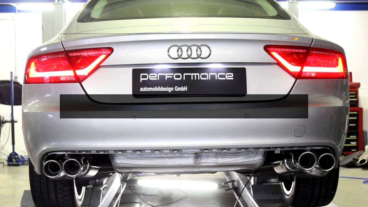 audi a6 a7 with performance flap exhaust system by cargraphic youtube. Black Bedroom Furniture Sets. Home Design Ideas