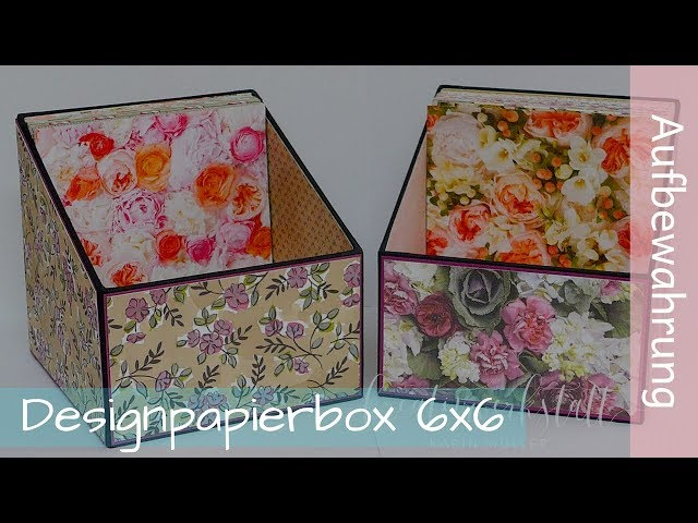 Design paper box - Designpapierbox - Tutorial - Stampin' Up! Demonstratorin - YouTube