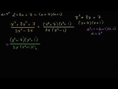 Simplifying rational expressions: higher degree terms   High School Math   Khan Academy