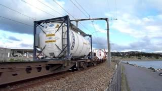 GE製DXBクラス+大連機車製DLクラス+44両貨車 DXB5022+DL9020
