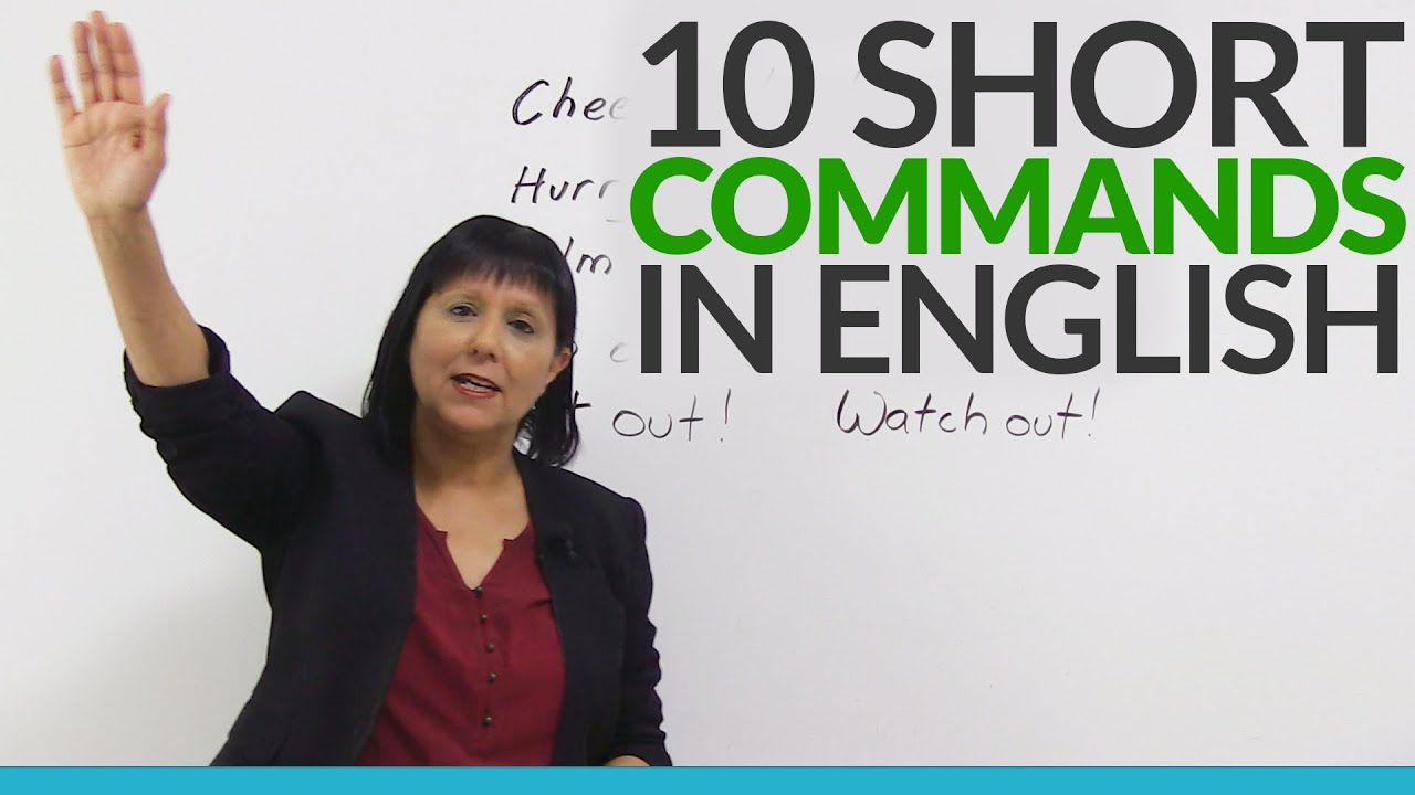 learn 10 easy english commands youtube