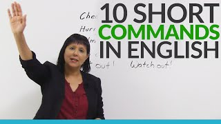 Learn 10 Easy English Commands