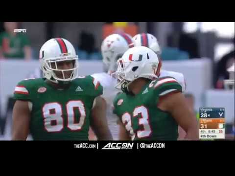 Virginia vs Miami College Football Condensed Game 2017