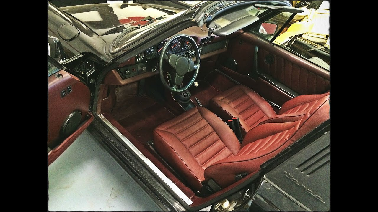 1982 Porsche 911 Sc Targa Interior Restoration Leather Seats Youtube