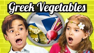 KIDS EAT GREEK VEGETABLES! | Kids Vs. Food
