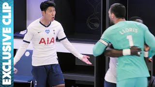 Son Feels the Fury of Lloris at Half-Time for not Tracking Back! | All or Nothing: Tottenham Hotspur