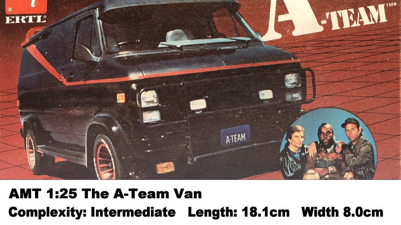 amt 1 25 the a team 1983 gmc van kit review youtube. Black Bedroom Furniture Sets. Home Design Ideas